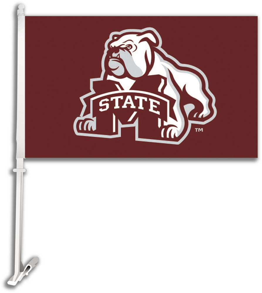 Mississippi State Bulldogs Mascot Car Flag