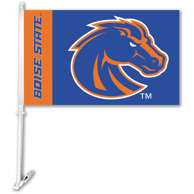 Boise State Broncos Team Logo Car Flag - Team Sports Gift