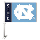 UNC Tar Heels Team Logo Car Flag