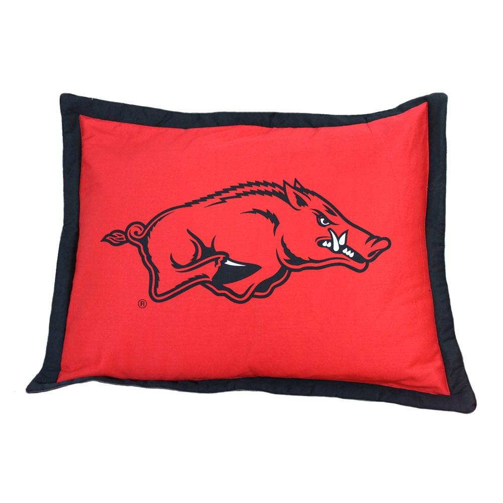 Arkansas Razorbacks Team Logo Quilted Pillow Sham