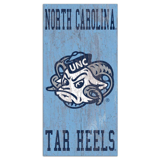 Retro UNC Tar Heels Logo Wall Decor