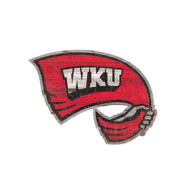 Western Kentucky Hilltoppers Distressed Logo Wall Art