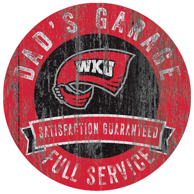 Western Kentucky Hilltoppers Dad's Full Service Garage Sign