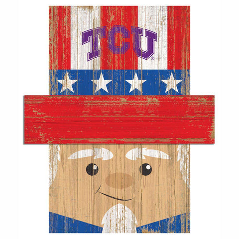 Uncle Sam Loves The TCU Horned Frogs Wall Art