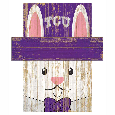 Easter Bunny Loves The TCU Horned Frogs Wall Plaque