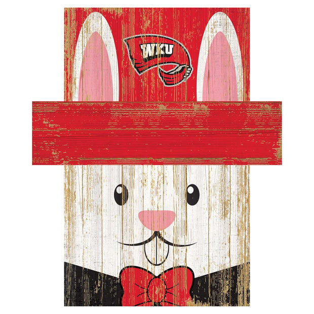 Easter Bunny Loves The Western Kentucky Hilltoppers Wall Plaque