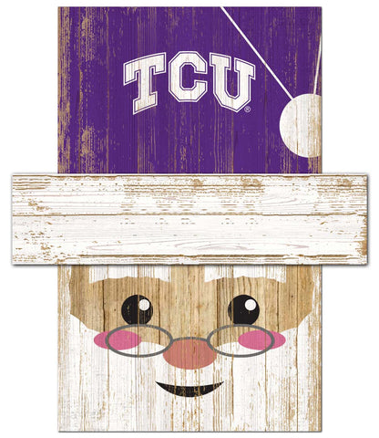 TCU Horned Frogs Santa's Day Off Wall Art
