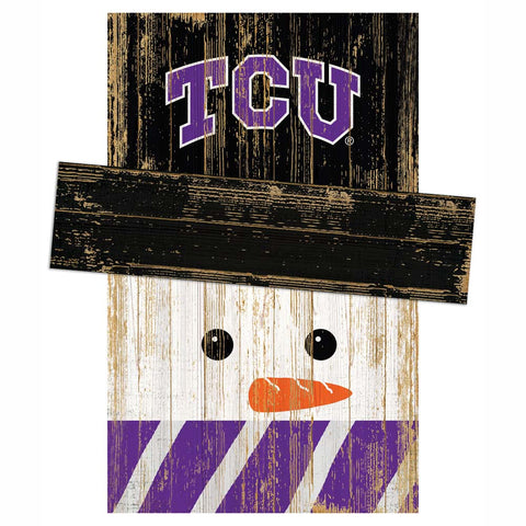 TCU Horned Frogs Snowman