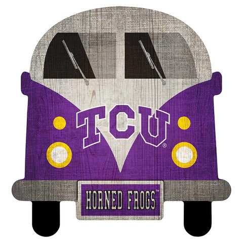 TCU Horned Frogs Game Day Bus Wall Decor