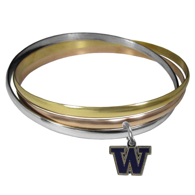 Washington Huskies Interlocking Tr-Color Bracelet