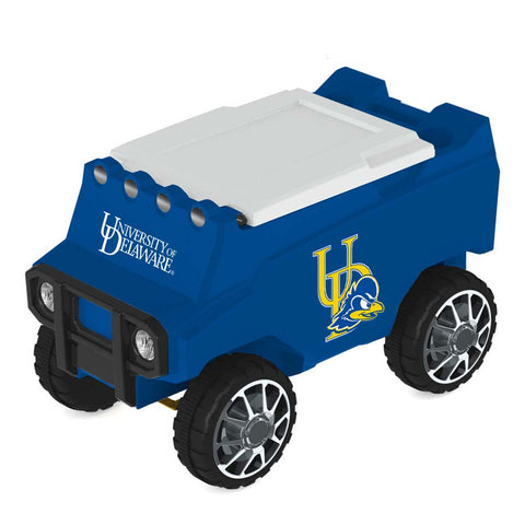Delaware Blue Hens Remote Control Cooler w/ Bluetooth Speakers