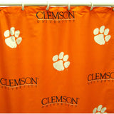 Clemson Tigers Scatter-Print Shower Curtain