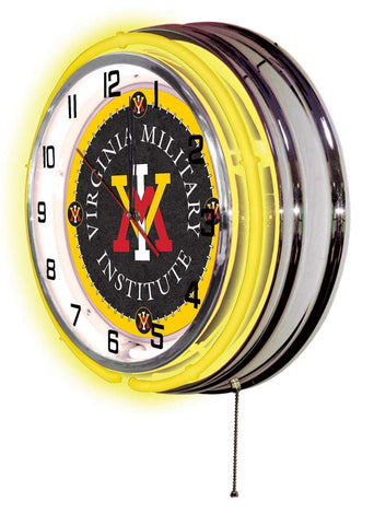Virginia Military Institute Keydets Large Logo Neon Clock