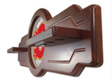 Calgary Flames 2 Piece Billiard Cue Rack Side Angle