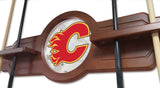 Calgary Flames 2 Piece Billiard Cue Rack Holding Cues