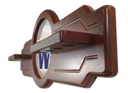 Washington Huskies 2 Piece Billiard Cue Rack Side Angle