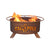 Cal Poly SLO Mustangs Portable Fire Pit & BBQ Grill Set - Team Sports Gift