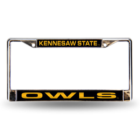 Colored Chrome Kennesaw State Owls Vanity License Frame