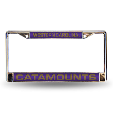 Colored Chrome Western Carolina Catamounts Vanity License Frame