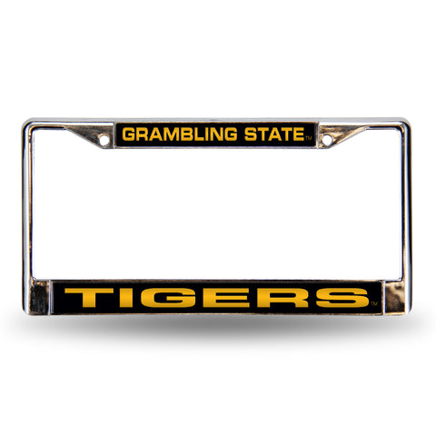Colored Chrome Grambling State Tigers Vanity License Frame