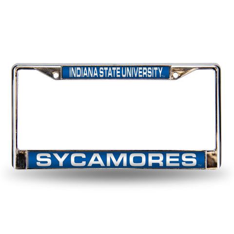 Colored Chrome Indiana State Sycamores Vanity License Frame