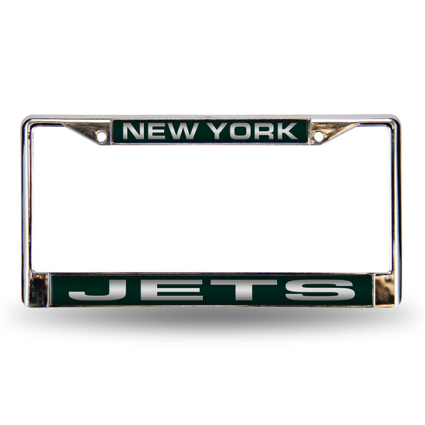 Green Colored Chrome New York Jets Vanity License Frame