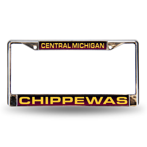 Colored Chrome Central Michigan Chippewas Maroon Vanity License Frame