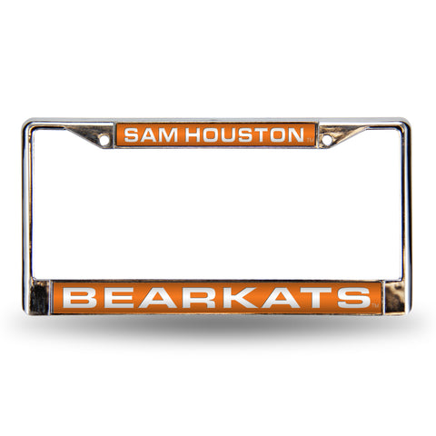 Colored Chrome Sam Houston Bearkats Vanity License Frame