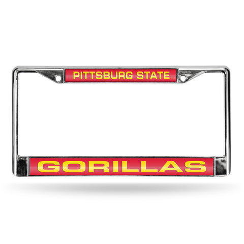 Colored Chrome Pittsburg State Gorillas Vanity License Frame