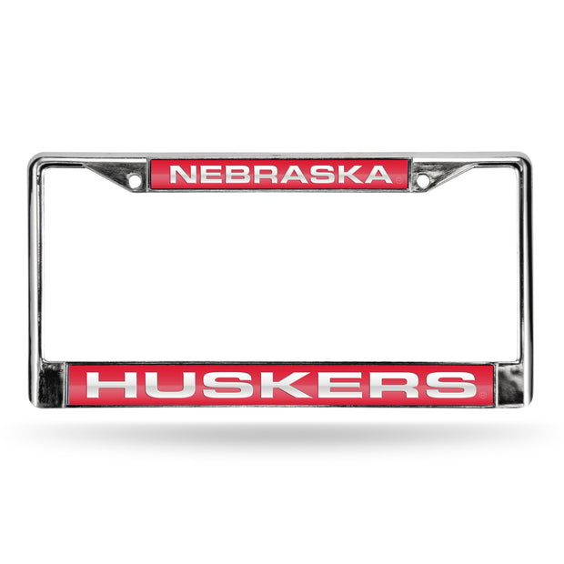 Colored Chrome Nebraska Cornhuskers Red Vanity License Frame