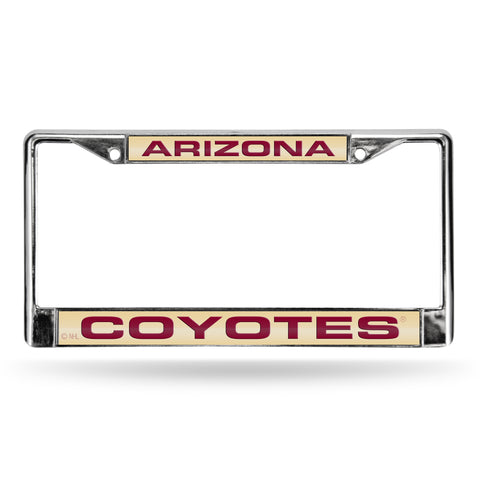 Colored Chrome Arizona Coyotes Maroon Vanity License Frame