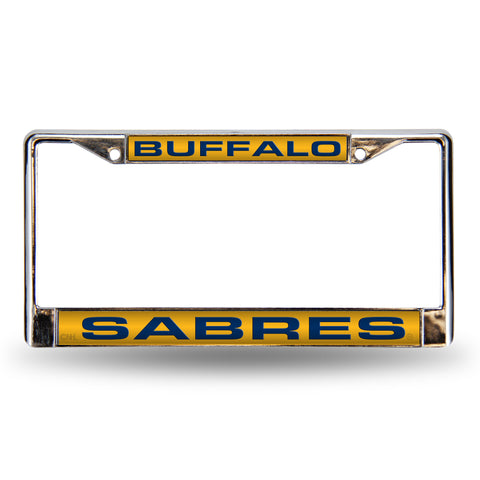 Colored Chrome Buffalo Sabres Vanity License Frame