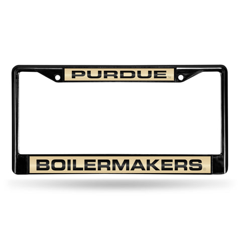 Purdue Boilermakers Black Chrome License Plate Frame