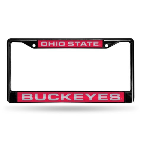 Ohio State Buckeyes Black Chrome License Plate Frame