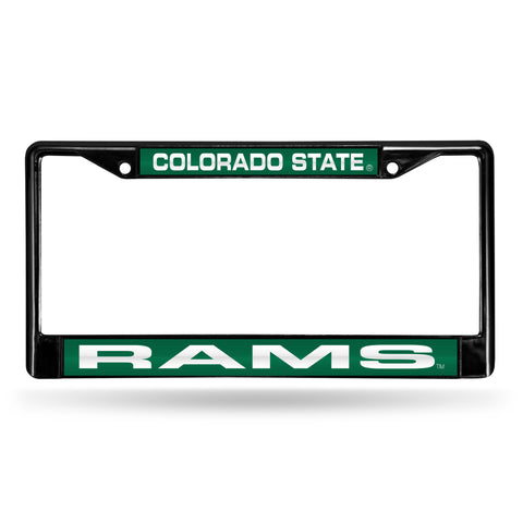 Colorado State Rams Black Chrome License Plate Frame