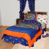 Florida Gators Bed in a Bag w/ White Team Logo Sheets
