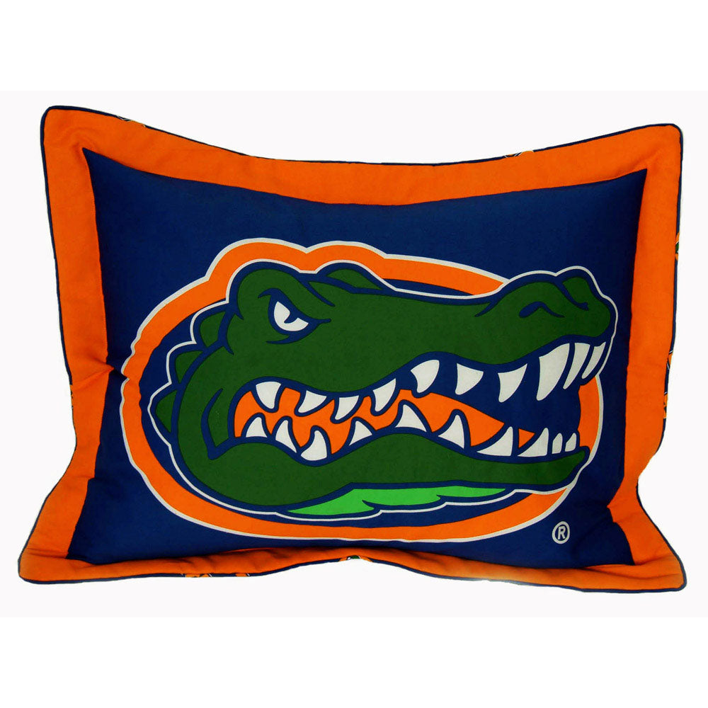 Florida Gators Team Logo Quilted Pillow Sham