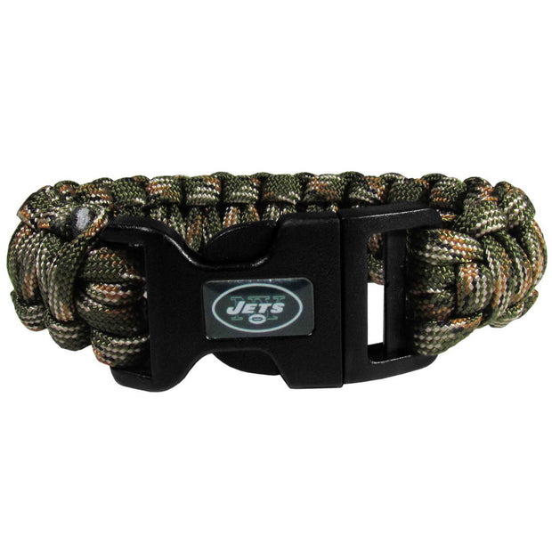 New York Jets Green Camo Rope Survivor Bracelet