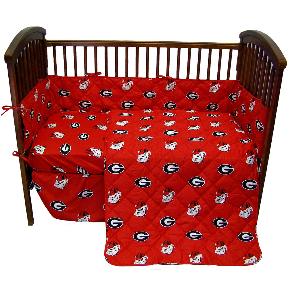Georgia Bulldogs 5pc. Baby Crib Bedding Set