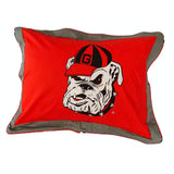Georgia Bulldogs Team Logo Quilted Pillow Sham