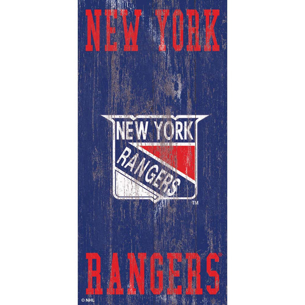 Retro New York Rangers Logo Wall Decor