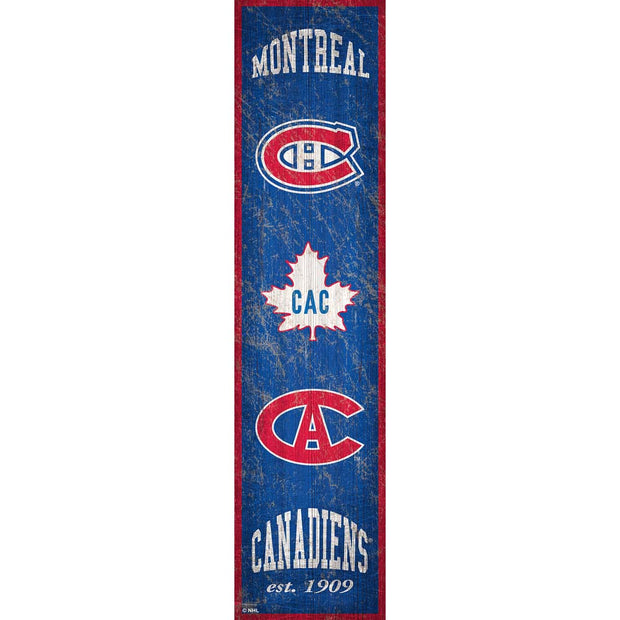 Retro Montreal Canadiens Banner Sign
