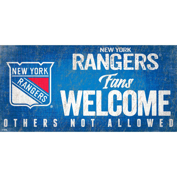 New York Rangers Fans Welcome Sign