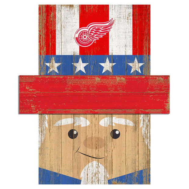 Uncle Sam Loves The Detroit Red Wings Wall Art