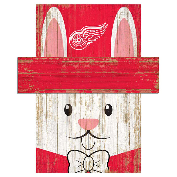 Easter Bunny Loves The Detroit Red Wings Wall Plaque