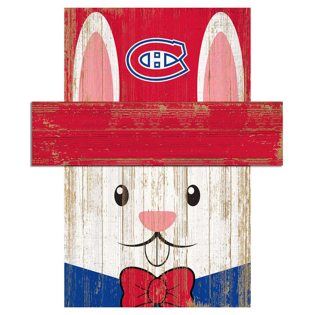 Easter Bunny Loves The Montreal Canadiens Wall Plaque