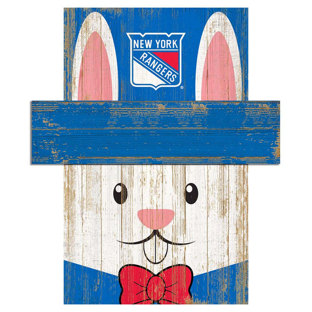 Easter Bunny Loves The New York Rangers Wall Plaque