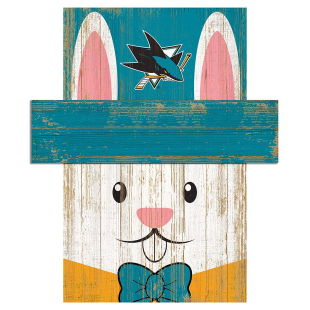 Easter Bunny Loves The San Jose Sharks Wall Plaque