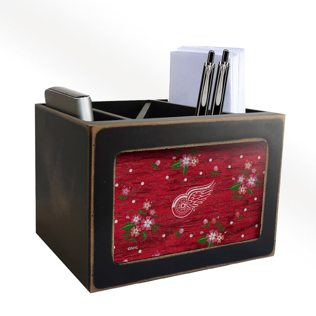Detroit Red Wings Modern Farmhouse Floral Desk Organizer