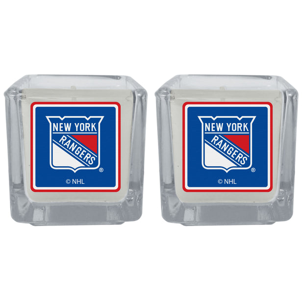 New York Rangers Scented Candles, Set of 2 Votives - Team Sports Gift
